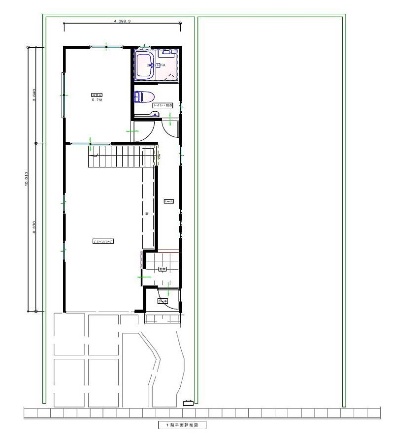 GARAGE HOUSE 平面図 1F